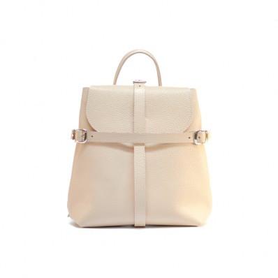 Женский кожаный рюкзак Symbol Nude бежевый