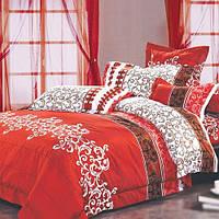 Постельное белье Вилюта ранфорс двуспальный 8630 красный