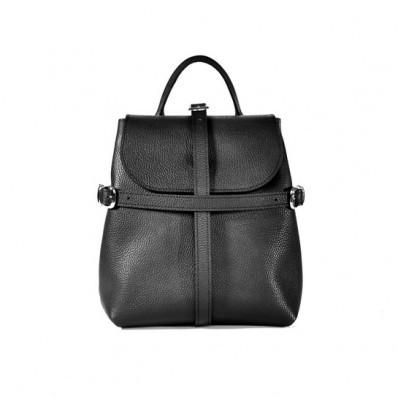 Женский кожаный рюкзак Symbol Black черный