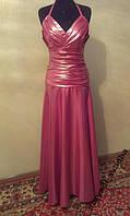 V.54 Необычное розовое платье-хамелеон, макси, размер 44