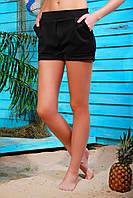 Черные короткие женские шорты из дайвинга Уника