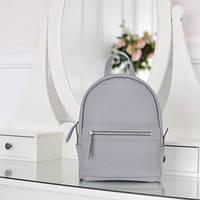 Женский кожаный рюкзак Sport Gray серый
