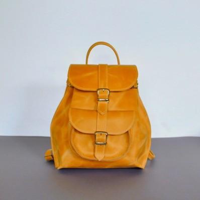 Женский кожаный рюкзак JIZUZ Tulip Orange оранжевый