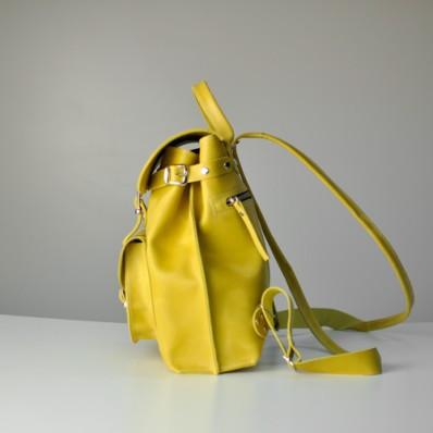 2128cda61d24 Женский кожаный рюкзак JIZUZ Tulip Lemon желтый, цена 1 685 грн., купить в  Киеве — Prom.ua (ID#371262957)