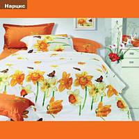 Комплект постельного белья Вилюта ранфорс двуспальный Евро Нарцисc