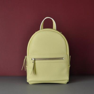 Женский кожаный рюкзак Sport Yellow желтый