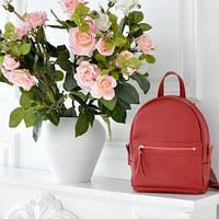 Женский кожаный рюкзак Sport Red красный