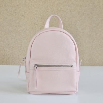 f6010f996344 Женский кожаный рюкзак Sport Nude бежевый - Интернет магазин