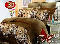 Полуторный комплект постельного белья, 3D, Леопарды