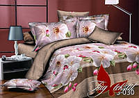 Евро комплект постельного белья, ткань сатин люкс, с компаньоном, S030