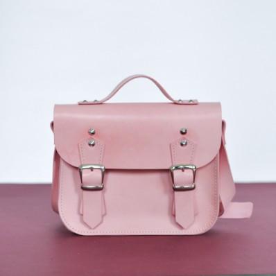 dd339017d6ab Женский кожаный клатч Jizuz Sathcel Mini розовый - Интернет магазин