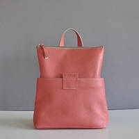 Женская кожаная сумка-рюкзак K-2 Terracota персиковая
