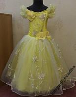 Необычное желто-золотое детское платье на 6-8 лет