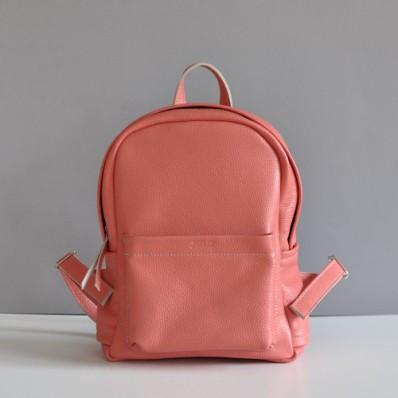 ed7ae66615ab Женский кожаный рюкзак Jizuz Carbon-S персиковый - Интернет магазин