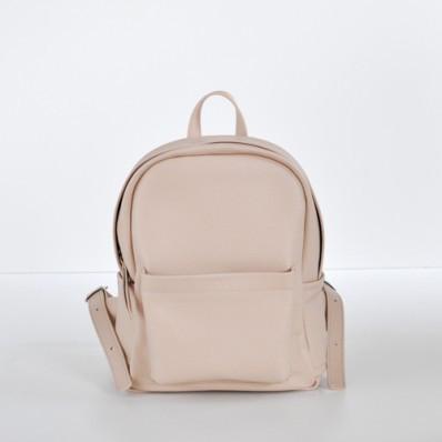 10b689573f66 Женский кожаный рюкзак Jizuz Carbon-S Nude бежевый - Интернет магазин
