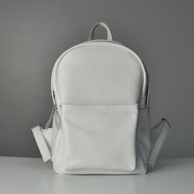 Женский кожаный рюкзак Jizuz Carbon White белый