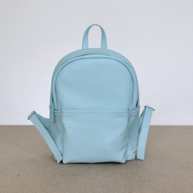 Женский кожаный рюкзак Jizuz Carbon Blue голубой