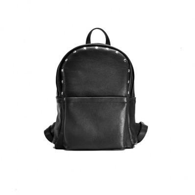 Женский кожаный рюкзак Jizuz Carbon Black черный