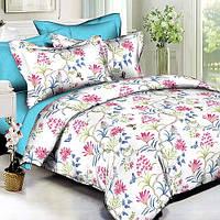 Комплект постельного белья Вилюта Поплин двуспальный Евро 1632