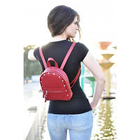 Женский кожаный рюкзак Baby Sport Red красный