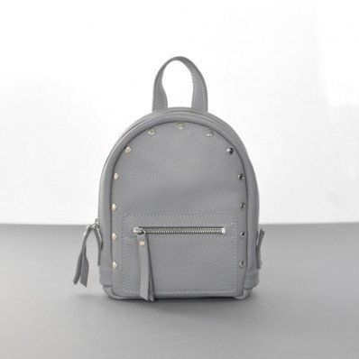 Женский кожаный рюкзак Baby Sport Gray серый