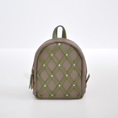 Женский кожаный рюкзак Baby Sport Beige-A бежевый