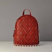 Женский кожаный рюкзак Archer Red красный