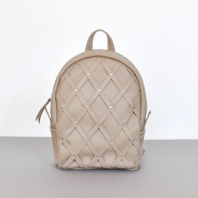 Женский кожаный рюкзак Archer Beige бежевый