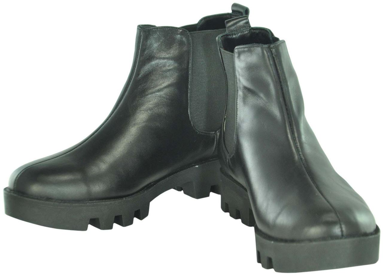 Женские кожаные ботинки gnk-43 черные - Интернет магазин