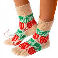 Шерстяные носки с пальцами