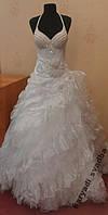 Шикарное белое свадебное платье, Swarovski, размер 44-48 (б/у)