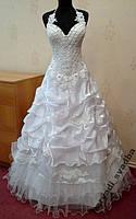 Необычное новое белое свадебное платье с кристаллами Swarovski, размер 44-50