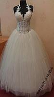 Свадебное платье для настоящей невесты, крем, размер 40-46 (б/у)