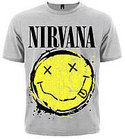 Футболка Nirvana (smile (меланж)), фото 1