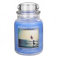 """Ароматическая свеча в стекле Village Candle """"Летний бриз"""". 740 гр/ 170 часов"""