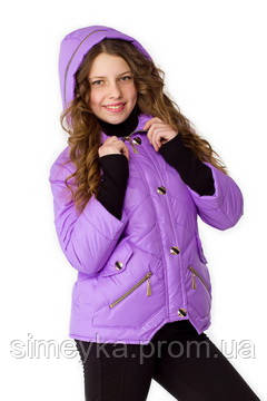 Куртка для девочки демисезонная Верона на рост 140 см, цвета в ассорт.