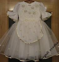 Кремово-золотое детское платье Swarovski на 2-4 годика