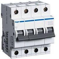 Автоматический выключатель нагрузки Hager MC416A Iн = 16 А 4п характеристика С