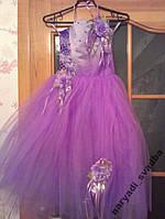 NEW! Шикарное фиолетовое детское платье на 4-6 лет