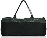 Спортивная кожаная сумка ss-96 черная