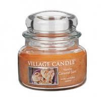 """Ароматическая свеча в стекле Village Candle """"Ваниль-Карамель"""". 315 гр/ 55 часов"""