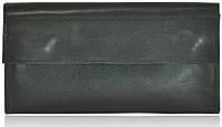 Кожаный клатч-кошелек ku-16 черный
