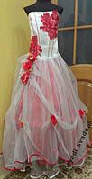 NEW! Необычное бело-красное детское платье на 8-12 лет