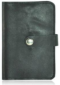 Обложка для паспорта кожаная op-9 черная