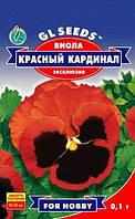 Семена Виолы Красный Кардинал F1 крупная, красная с глазком