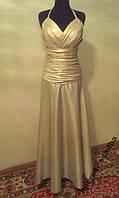 V.57 Необычное золотое платье-хамелеон, макси, размер 44