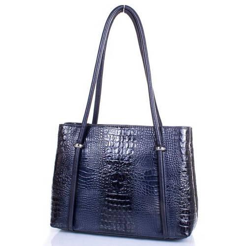 Кожаная строгая  женская сумка DESISAN (ДЕСИСАН) SHI2882-582 Синий