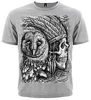 Футболка Indian Skull & Owl, фото 1