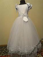 NEW!!! Шикарное белое детское платье на 6-9 лет