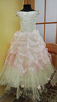 NEW!!! Шикарное кремово-розовое платье на 7-10 лет